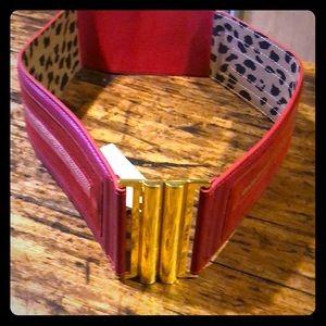 Betsy Johnson stretch belt with zipper